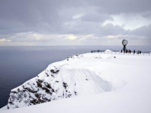 Monument op de Noordkaap