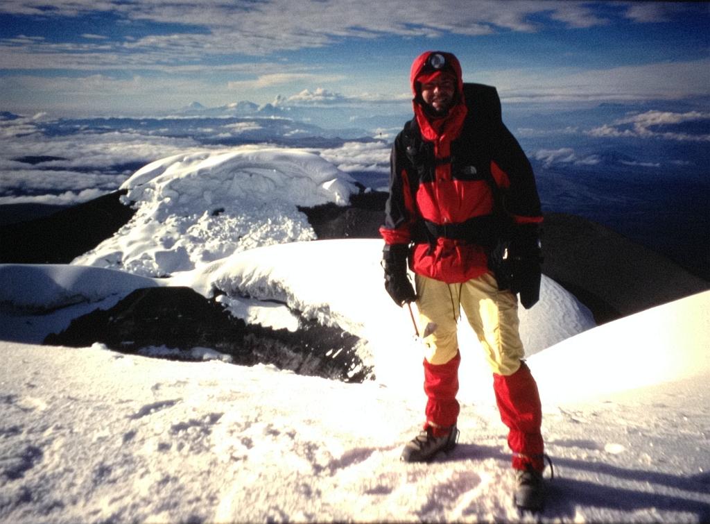 Boris op de top van de Cotopaxi