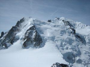 Mont Blanc vanaf de Aiguille du Midi