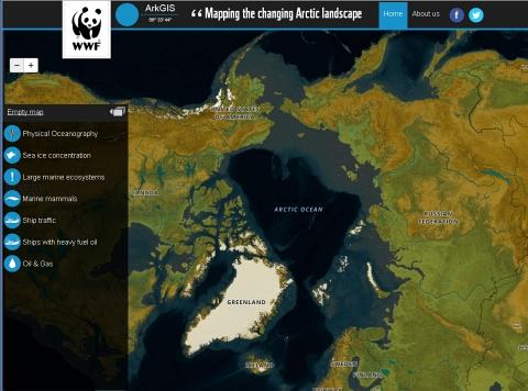 Interactieve Noordpoolkaart