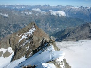 Dirruhorn (4,035m) from halfway down the Hobärghorn (4,219m)