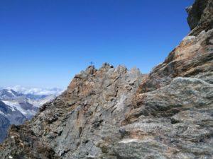 Last part of the ridge to the Dirruhorn (4,035m)