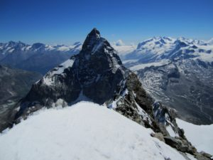 Matterhorn & Monte Rosa from the summit of Dent d'Hérens