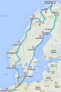 Route van Arctic Bike 2015