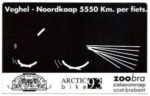 Sponsorkaart van Arctic Bike 1993
