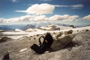 Kamp 2, Nido de Condores (5.400m), Aconcagua, Argentinië