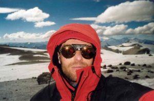 Bij gebrek aan andere klimmers... (Boris Krielen, Nido de Condores, 5.400m)