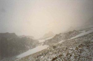 Slecht zicht op de Traverse (6.500m)
