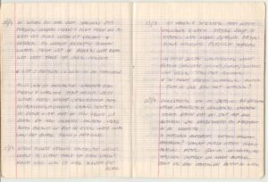Fragment uit mijn dagboek, beschrijving van de storm in Nido vlak voor de summitdag