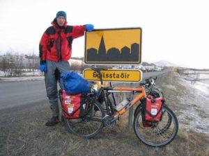 Ramon bij het eindpunt in Egilsstaðir