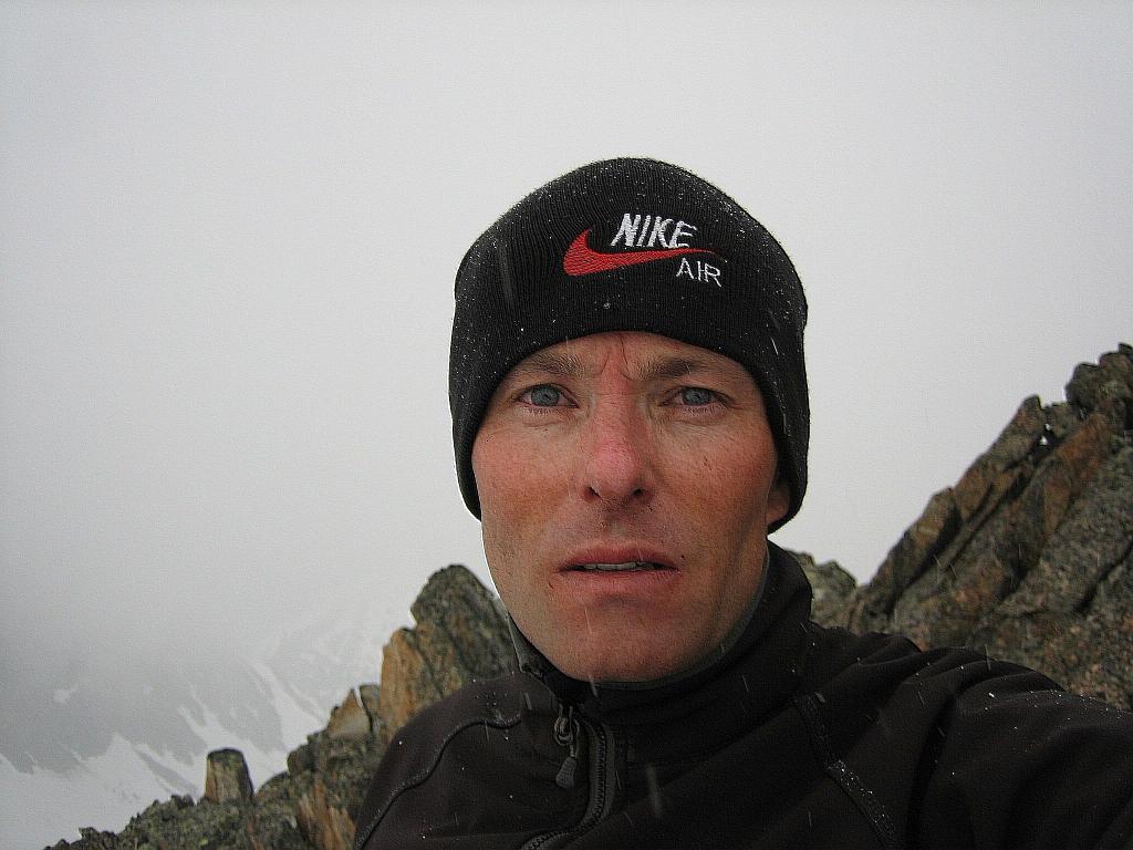 Me finally on the Senda ridge of Piz Julier