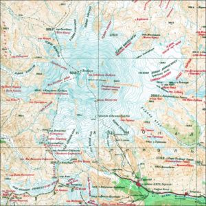 Map of Mount Elbrus