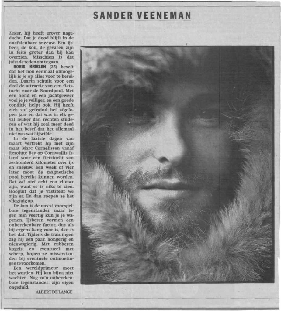 Interview with Het Parool, Magnetic North Pole 1996