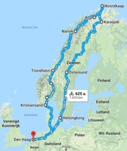 Route van Arctic Bike 2019
